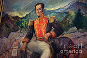 Colorized Prints - Simón Bolívar, Venezuelan Political Print by Photo Researchers
