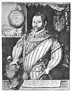 Francis Photo Prints - Sir Francis Drake (1540-1596) Print by Granger