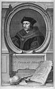 Lawyer Prints - Sir Thomas More, English Statesman Print by Middle Temple Library