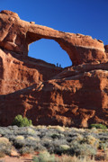 Fiery Framed Prints - Skyline arch in Arches National Park Framed Print by Pierre Leclerc