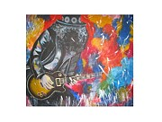 Guns N Roses Paintings - Slash by Hilda De Jesus