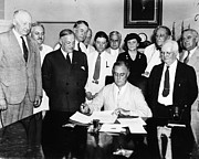 White House Photos - Social Security Act, 1935 by Granger