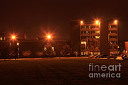 Intensity Prints - Sodium Vapor Lights On College Campus Print by Ted Kinsman