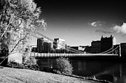 Glasgow City Centre Scotland Prints - south portland street suspension bridge over the river clyde Glasgow Scotland UK Print by Joe Fox