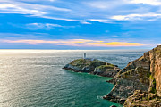 Tidal Photographs Photo Framed Prints - South Stack Lighthouse Framed Print by Gary Finnigan