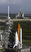 Ov-104 Prints - Space Shuttle Atlantis And Endeavour Print by Stocktrek Images