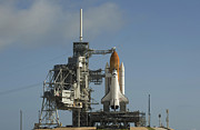 Rocket Boosters Prints - Space Shuttle Discovery Sits Ready Print by Stocktrek Images