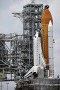 Endeavour Framed Prints - Space Shuttle Endeavour On The Launch Framed Print by Stocktrek Images