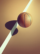 Basketball Abstract Photos - Sports Shadow by Kelvin Murray