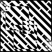 Optical Illusion Drawings - 3-Squares Diagonally Maze by Yonatan Frimer Maze Artist