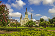 Catholic Church Prints - St. Louis Cathedral  Print by Scott Pellegrin