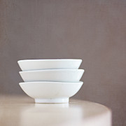 Jose Prints - 3 Stacked Bowls Print by Pamela N. Martin
