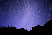 Perseid Metal Prints - Star Trails Metal Print by Kaj R. Svensson