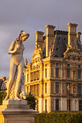 Jardin Photography - Statue below Musee du Louvre by Brian Jannsen
