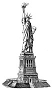 Liberated Prints - Statue Of Liberty Print by Granger