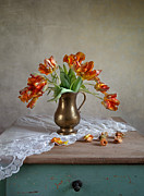 Still Life With Tulips Print by Nailia Schwarz