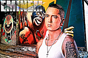 Shady Street Framed Prints - Street Phenomenon Eminem Framed Print by The DigArtisT