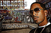 Rnb Prints - Street Phenomenon Ludacris Print by The DigArtisT