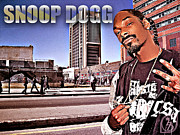Slim Prints - Street Phenomenon Snoop Dogg Print by The DigArtisT