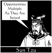 Sun Digital Art Framed Prints - Sun Tzu Framed Print by War Is Hell Store