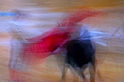Bulls Posters - Tauromaquia Abstract bull-fights in Spain Poster by Guido Montanes Castillo