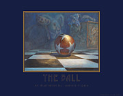 Rip Squeak Paintings - The Ball by Leonard Filgate