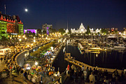 Festivals Photos - The Inner Harbor On A Busy Summer by Taylor S. Kennedy