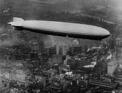 1920s Candid Posters - The Lz 129 Graf Zeppelin Poster by Everett