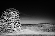 the memorial cairn on Culloden moor battlefield site highlands scotland Print by Joe Fox