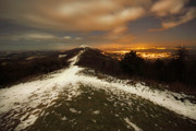 Winter Night Posters - The Midnight On Malvern Hills Poster by Angel  Tarantella