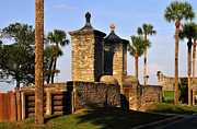 Historic Florida Framed Prints - The Old City Gates Framed Print by David Lee Thompson