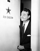 1950s Tv Framed Prints - The Red Skelton Show, Red Skelton Framed Print by Everett
