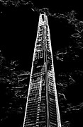 London England  Digital Art - The Shard London by David Pyatt