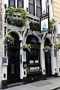 Hanging Baskets Posters - The Ship Pub London  Poster by David Pyatt