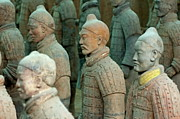 Qin Shi Huang Framed Prints - The Terracotta Army Framed Print by Sami Sarkis