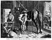 Farrier Prints - The Village Blacksmith Print by Granger