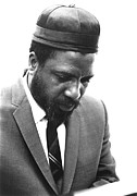 Thelonius Monk Framed Prints - Thelonius Monk 1917-1982jazz Pianist Framed Print by Everett