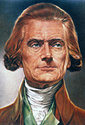 Cravat Framed Prints - Thomas Jefferson (1743-1826) Framed Print by Granger