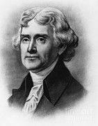 American Revolution Framed Prints - Thomas Jefferson, 3rd American President Framed Print by Photo Researchers