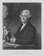 Thomas Drawings Metal Prints - Thomas Jefferson Metal Print by War Is Hell Store