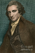 Paine Framed Prints - Thomas Paine, American Patriot Framed Print by Photo Researchers