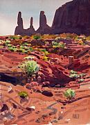 Navajo Painting Acrylic Prints - Three Sisters Acrylic Print by Donald Maier