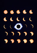 Solar Eclipse Photo Posters - Timelapse Image Of A Total Solar Eclipse Poster by Dr Fred Espenak