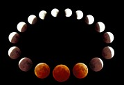 Eclipse Framed Prints - Total Lunar Eclipse, Montage Image Framed Print by Pekka Parviainen