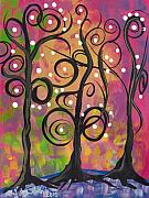 Abril Andrade Griffith Art - 3 Trees by  Abril Andrade Griffith