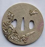 Carving Sculptures - Tsuba Fuchi Kashira Seppa Habaki Kurigata Of Handmade Katana Sword Fittings by Charles  Wu