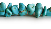 Jagged Prints - Turquoise stones Print by Blink Images