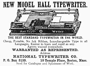 Typewriter Photos - Typewriter Ad, 1890 by Granger