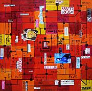 Stage Mixed Media Originals - Untitled by Badri J