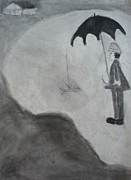 Umbrella Drawings Prints - Untitled Print by Christopher Pekarik